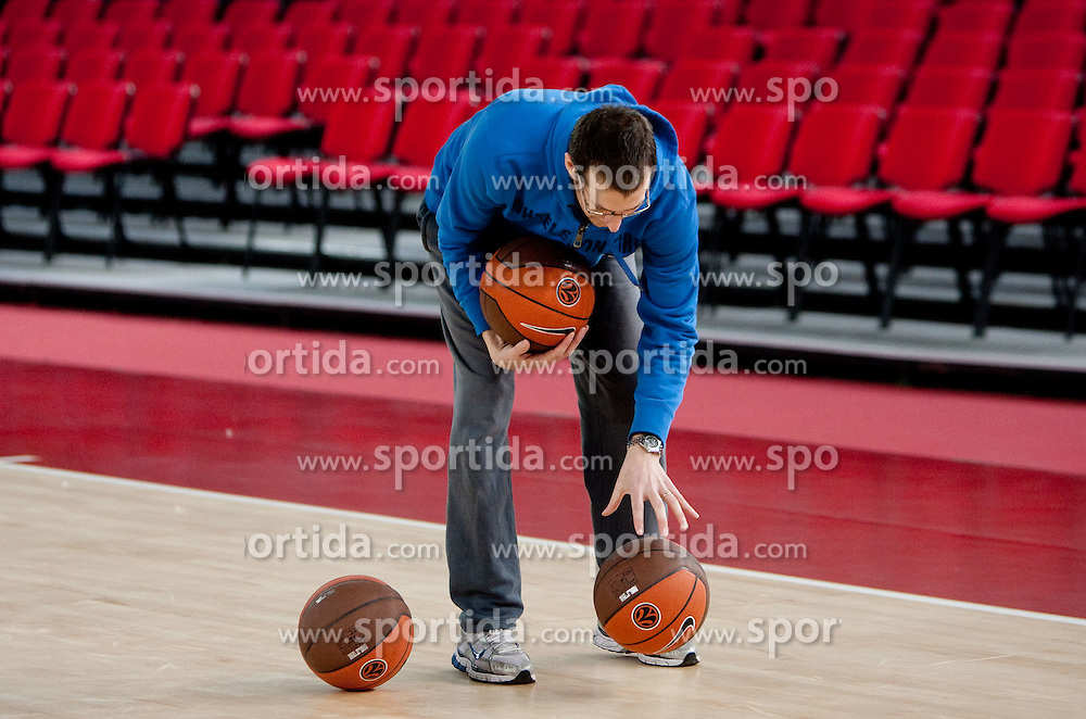 Assistant coach Jaka Daneu during practice session of basketball club KK Union Olimpija day before Euroleague Top 16 Round Match vs Lottomatica Roma, on January 19, 2011 in Arena PalaLottomatica, Rome, Italy. (Photo By Vid Ponikvar / Sportida.com)