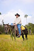 Kyle Redden, cowboy at Creek Ranch, Lake Hatchineha, Florida.