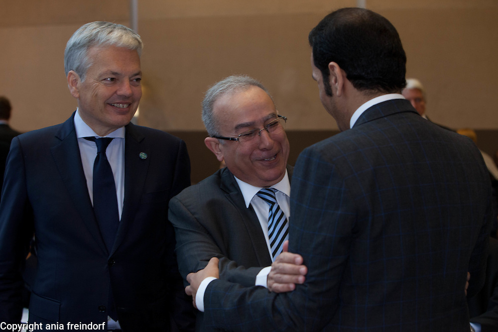 Middle East Peace Conference, Paris, France. International summit. 7O countries have participated in the summit. Belgium<br /> Didier Reynders, Vice-First Minister and Minister of Foreign Affairs. Algeria - H.E. Mr. Ramtane Lamamra, Minister of Foreign Affairs