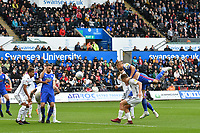 Football - 2018 / 2019 Sky Bet EFL Championship - Swansea City vs. Ipswich Town<br /> <br /> Luke Chambers of Ipswich Town heads at goal, at The Liberty Stadium.<br /> <br /> COLORSPORT/WINSTON BYNORTH