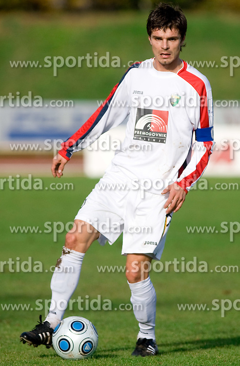 Alem Mujakovic of Rudar at football match of Round 17 of Slovenian first league between NK Interblock and NK Rudar Velenje,  on November 7, 2009, in ZAK, Ljubljana, Slovenia.  Interblock won 3:1. (Photo by Vid Ponikvar / Sportida)