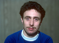 Stephen McKee, footballer, Linfield FC, Belfast, N Ireland, January, 1982, 198201000003<br /> <br /> Copyright Image from Victor Patterson, 54 Dorchester Park, Belfast, UK, BT9 6RJ<br /> <br /> Tel: +44 28 9066 1296<br /> Mob: +44 7802 353836<br /> Voicemail +44 20 8816 7153<br /> Skype: victorpattersonbelfast<br /> Email: victorpatterson@me.com<br /> Email: victor@victorpatterson.com<br /> <br /> IMPORTANT: If you wish to use this image or any other of my images please go to www.victorpatterson.com and click on the Terms & Conditions. Then contact me by email or phone with the reference number(s) of the image(s) concerned.