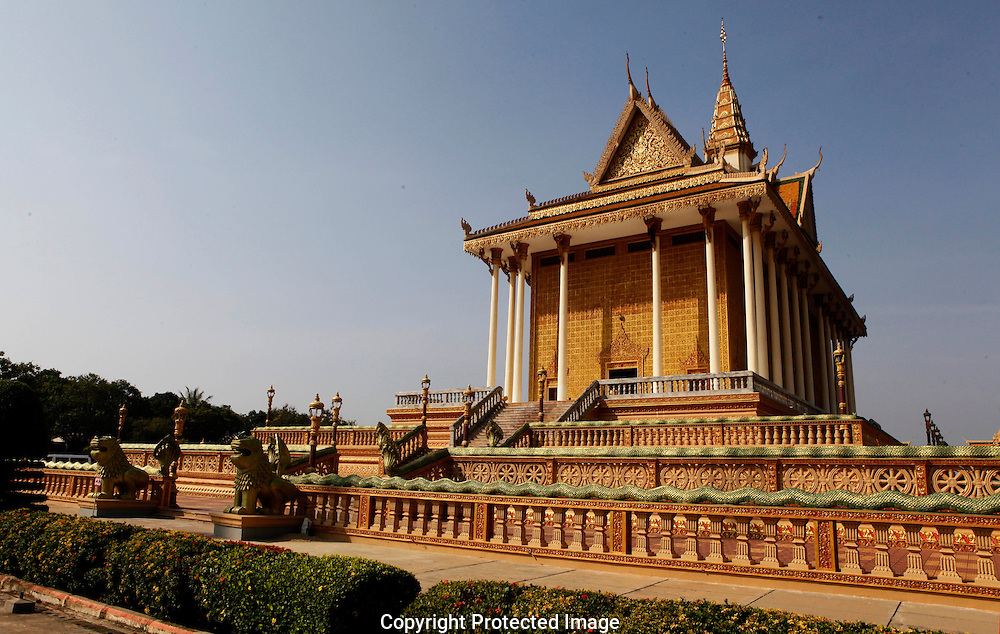 The Udon Monastery near Phom Penh Cambodia.  Also named Vipassana Duhrak.<br /> <br />  photo by Dennis Brack