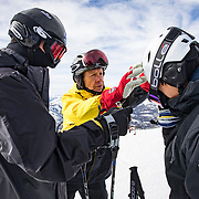 Jim Sanford, 72, and his wife, Jean Holden, 70, both retired from the aerospace industry and moved to Mammoth Lakes, CA to lead an active retirement. They serve as Ski Hosts on Mammoth Mountain where they greet arriving visitors, help them park and get their gear to the lifts. This is their 10th year as Ski Hosts<br />