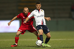 November 12, 2017 - Teramo, TE, Italy - Daniele Casiraghi of A.S. Gubbio 1910 compete for the ball with Stefano Amadio of Teramo Calcio 1913 during the Lega Pro 17/18 group B match between Teramo Calcio 1913 and AS Gubbio 1910 at Gaetano Bonolis stadium on November 12, 2017 in Teramo, Italy. (Credit Image: © Danilo Di Giovanni/NurPhoto via ZUMA Press)