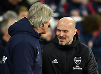 Football - 2019 / 2020 Premier League - West Ham United vs. Arsenal<br /> <br /> Arsenal caretaker manager Freddie Ljungberg meets West Ham United manager Manuel Pellegrini, at The London Stadium.<br /> <br /> COLORSPORT/ASHLEY WESTERN