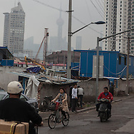 China, Shanghai. district under renovation in Quipu area