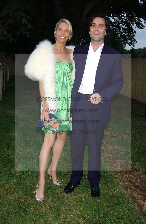 The HON.PHILIP & WENDY KNATCHBULL at the annual Serpentine Gallery Summer Party co-hosted by Jimmy Choo shoes held at the Serpentine Gallery, Kensington Gardens, London on 30th June 2005.<br />