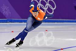 12-02-2018 ALGEMEEN: MEDAL PLAZA OLYMPISCHE SPELEN: OLYMPIC GAMES: PEYONGCHANG 2018<br /> Marrit Leenstra (NED) wint Olympisch brons op de 1500 meter<br /> Foto: Sander Chamid
