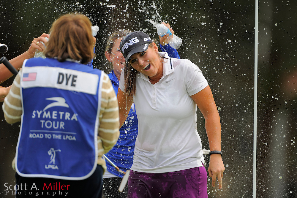 Kendall Dye after winning the IOA Golf Classic at Alaqua Country Club on March {today day}, 2014 in Longwood, Florida.<br /> <br /> &copy;2014 Scott A. Miller