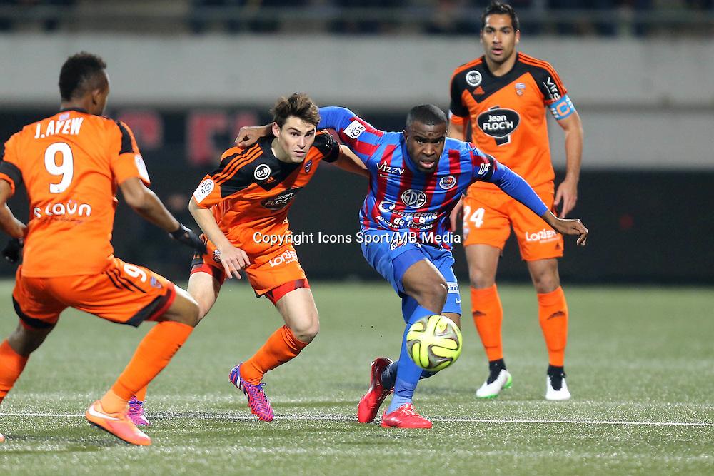 Sloan PRIVAT / Vincent LEGOFF - 14.03.2015 - Lorient / Caen - 29eme journee de Ligue 1<br /> Photo : Vincent Michel / Icon Sport