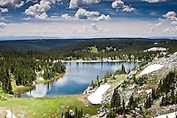 Mirror Lake in the Snowy Range of the Medicine Bow Mountains, Wyoming.