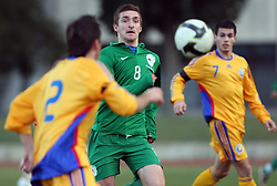 Armin Bacinovic (8)  of Slovenia during Friendly match between U-21 National teams of Slovenia and Romania, on February 11, 2009, in Nova Gorica, Slovenia. (Photo by Vid Ponikvar / Sportida)