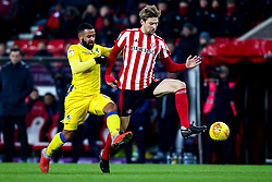 Alex Jakubiak of Bristol Rovers takes on Glenn Loovens of Sunderland - Mandatory by-line: Robbie Stephenson/JMP - 15/12/2018 - FOOTBALL - Stadium of Light - Sunderland, England - Sunderland v Bristol Rovers - Sky Bet League One