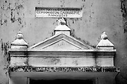 Detail of an old Dutch Colonial building. Jaffna Peninsula.