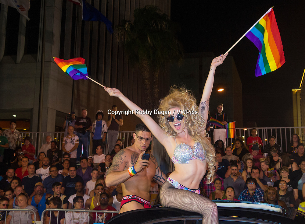 participants at the annual Las Vegas Gay pride parade