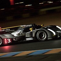 #3 Audi R18 TDI, Audi Sport North America, Drivers: Kristensen, McNish, Capello, P1, Wednesday night qualifying, Le Mans 24H 2011