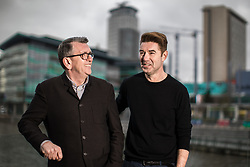 """© Licensed to London News Pictures . 22/01/2018 . Salford , UK . MIKE JOYCE and CRAIG GANNON . Former band members of the Smiths and Manchester Camerata were reported to be joining forces to create """" Classically Smiths """" which would have seen Smiths songs played live to a classical orchestral backing but now bass player Andy Rourke has said he knew nothing of the project and was never invited in the first place . Photo credit : Joel Goodman/LNP"""