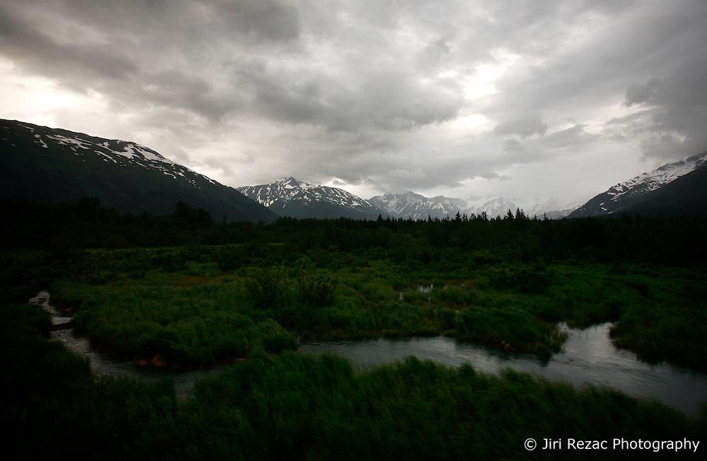 USA ALASKA 24JUN12 - Scenic landscape on the Alaska Railroad coastal classic train route from Anchorage to Seaward...Photo by Jiri Rezac / Greenpeace