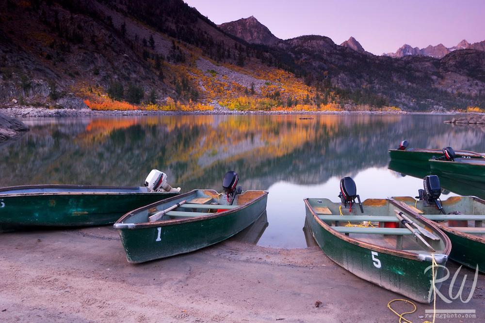 Fishing Boats at Lake Sabrina, Eastern Sierra, California