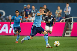 September 5, 2018 - Bronx, New York, United States - New York City midfielder ALEXANDER RING #8 dribbles the ball upfield during a regular season match at Yankee Stadium in Bronx, NY.  New England Revolution defeats New York City FC 1 to 0 (Credit Image: © Mark Smith/ZUMA Wire)