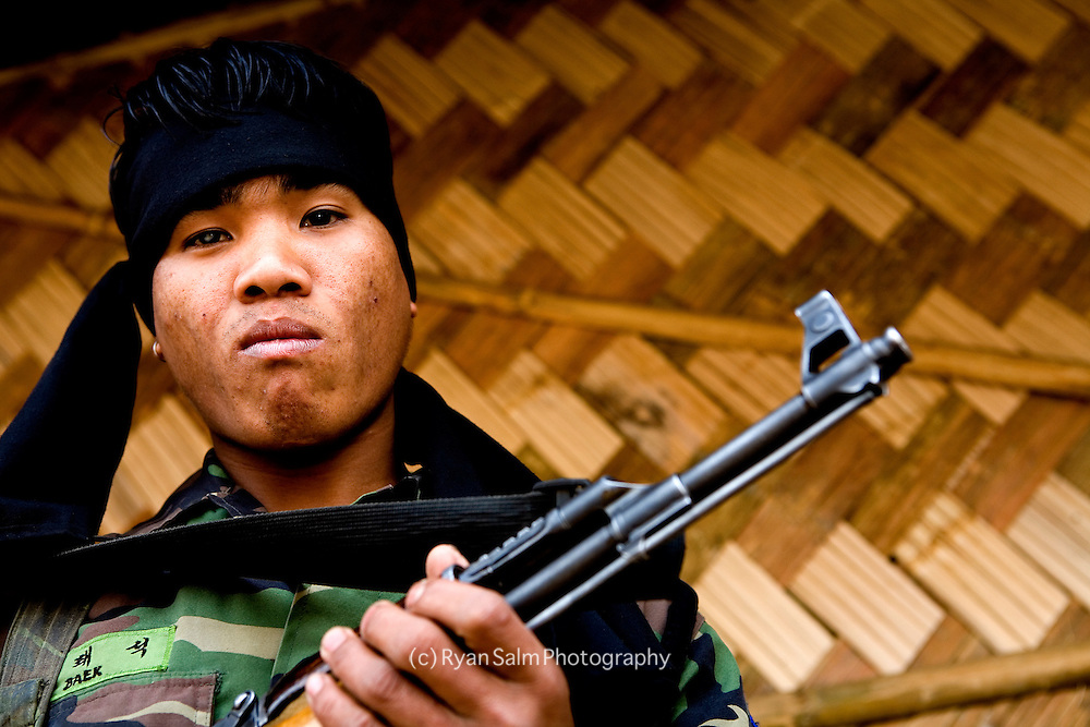 A young rebel soldier of the K Faction..Mon, Nagaland