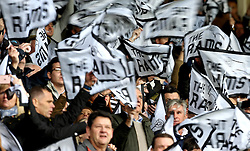 Derby County fans wave flags - Mandatory by-line: Robbie Stephenson/JMP - 11/12/2016 - FOOTBALL - iPro Stadium - Derby, England - Derby County v Nottingham Forest - Sky Bet Championship