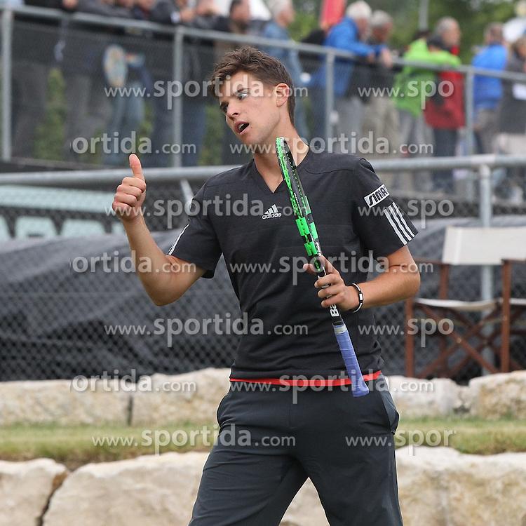 09.06.2015, Tennis Club Weissenhof, Stuttgart, GER, ATP Tour, Mercedes Cup Stuttgart, im Bild Dominic Thiem ( AUT ) // during the Mercedes Cup of ATP world Tour at the Tennis Club Weissenhof in Stuttgart, Germany on 2015/06/09. EXPA Pictures &copy; 2015, PhotoCredit: EXPA/ Eibner-Pressefoto/ Langer<br /> <br /> *****ATTENTION - OUT of GER*****
