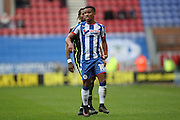 Wigan Athletic midfielder Nathan Byrne (10) during the EFL Sky Bet Championship match between Wigan Athletic and Brighton and Hove Albion at the DW Stadium, Wigan, England on 22 October 2016.