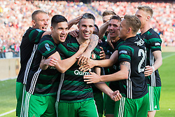 Kevin Diks of Feyenoord, Robin van Persie of Feyenoord, Steven Berghuis of Feyenoord, Jens Toornstra of Feyenoord during the Dutch Toto KNVB Cup Final match between AZ Alkmaar and Feyenoord on April 22, 2018 at the Kuip stadium in Rotterdam, The Netherlands.