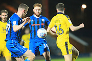 Callum Camps eyes the ball during the EFL Sky Bet League 1 match between Rochdale and Oxford United at Spotland, Rochdale, England on 12 March 2019.