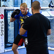 LONDON, ENGLAND, AUGUST 2, 2013: UFC light-heavyweight contender works out for the media inside Stars Gym in Battersea, London, England on Friday, August 2, 2013 © Martin McNeil