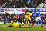 Burton Albion's Tom Naylor makes an important interception during the EFL Sky Bet Championship match between Ipswich Town and Burton Albion at Portman Road, Ipswich, England on 10 February 2018. Picture by John Potts.