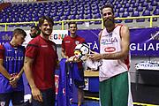 Luigi Datome, Daniele Dessena<br /> Nazionale Italiana Maschile Senior<br /> Incontro Cagliari Calcio<br /> FIP 2017<br /> Cagliari, 08/08/2017<br /> Foto Ciamillo-Castoria