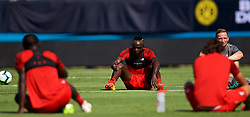 CHARLOTTE, USA - Saturday, July 21, 2018: Liverpool's Sadio Mane during a training session at the Bank of America Stadium ahead of a preseason International Champions Cup match between Borussia Dortmund and Liverpool FC. (Pic by David Rawcliffe/Propaganda)