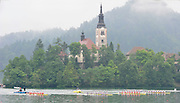 Bled, SLOVENIA,  Men's  Eights, GBR M8+ winning the gold medal,  at the 1st FISA World Cup. Third day. Bow, Nataniel REILLY-O'DONNELL, James CLARKE, James ORME, James FOAD, Mohamad SBIHI, Greg SERLE, Peter REED, Daniel RITCHIE and Cox Phelan HILL. Rowing Course. Lake Bled. Church, Island, Sunday  30/05/2010  [Mandatory Credit Peter Spurrier/ Intersport Images]