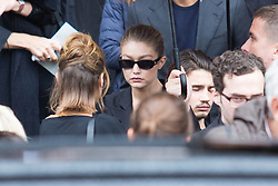 Gigi Hadid attend Peter Lindbergh's funerals at Eglise Saint-Sulpice in Paris, France on September 24, 2019. Photo by Nasser Berzane/ABACAPRESS.COM