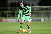 Forest Green Rovers Charlie Cooper(15) on the ball during the EFL Sky Bet League 2 match between Forest Green Rovers and Luton Town at the New Lawn, Forest Green, United Kingdom on 16 December 2017. Photo by Shane Healey.
