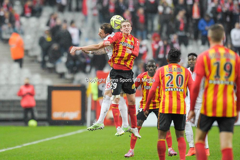 Nolan Roux / Benjamin Bourigeaud - 07.12.2014 - Lens / Lille - 17eme journee de Ligue 1<br />Photo : Andre Ferreira / Icon Sport