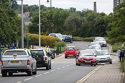 © Licensed to London News Pictures. 29/06/2017. Chatham, UK. Chatham Dockside carpark has been closed to cars since the incident. Emergency services at the Dockside Outlet shopping centre in Chatham following an incident this morning when a woman reportedly had her throat slit. Photo credit : Rob Powell/LNP