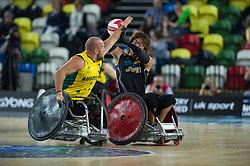 Japan v Australia - BT World Wheelchair Rugby Challenge, Copper Box Arena, London, UK on 16 October 2015. Photo: Simon Parker
