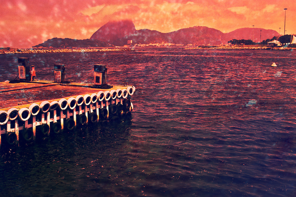 Oil and water. Guanabara bay view.