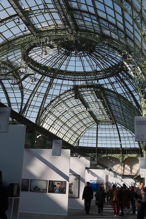 France. Paris in The Grand Palais. / art Paris, Art Fair Foire dans le Grand Palais