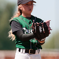 04 July 2010: Melissa Mayeux, Cougars Montigny little league, championnat Minimes, Ronchin, France.