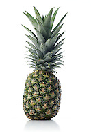 Studio shot of pineapple on white background