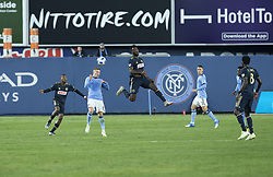 October 31, 2018 - New York, New York, United States - Alexander Ring (8) of NYCFC controls air ball during knockout round game between NYCFC & Philadelphia Union at Yankees stadium NYCFC won 3 - 1  (Credit Image: © Lev Radin/Pacific Press via ZUMA Wire)