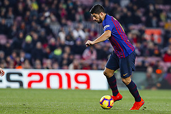 January 20, 2019 - Barcelona, Spain - Luis Suarez (9) of FC Barcelona during the match FC Barcelona against CD Leganes, for the round 20 of the Liga Santander, played at Camp Nou  on 20th January 2019 in Barcelona, Spain. (Credit: Mikel Trigueros/Urbanandsport / NurPhoto) (Credit Image: © Mikel Trigueros/NurPhoto via ZUMA Press)