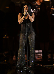 Demi Lovato on stage during the MTV Europe Music Awards 2017 held at The SSE Arena, London. Photo credit should read: Doug Peters/EMPICS Entertainment