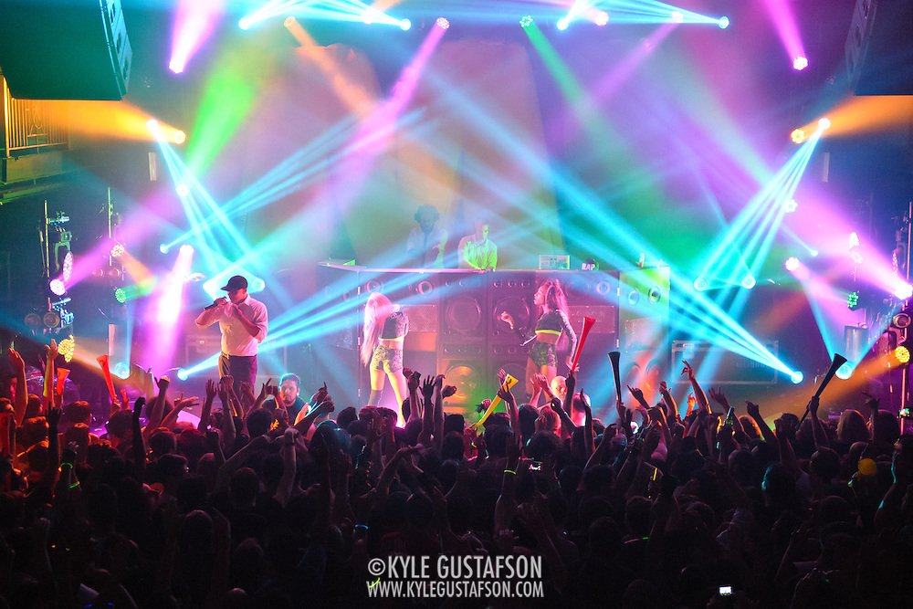 WASHINGTON, DC - October 26th, 2012 - Major Lazer performs at the 9:30 Club in Washington, D.C.  The group, led by superstar DJ Diplo, plans on releasing their sophomore album in February 2013.(Photo by Kyle Gustafson / For The Washington Post)