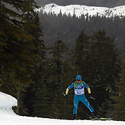 Winter Olympics, Vancouver, 2010. Valj Semerenko, Ukraine, in action during the Women's 7.5 KM Sprint Biathlon at The Whistler Olympic Park, Whistler, during the Vancouver  Winter Olympics. 13th February 2010. Photo Tim Clayton